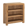 The Capri Oak Rustic Small Low Bookcase from Roseland Furniture