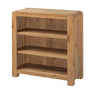 The Capri Oak Chunky Wooden Small Low Bookcase