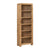 The Capri Oak Rustic Tall Narrow Bookcase from Roseland Furniture