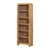 Capri Oak Rustic Tall Slim Bookcase