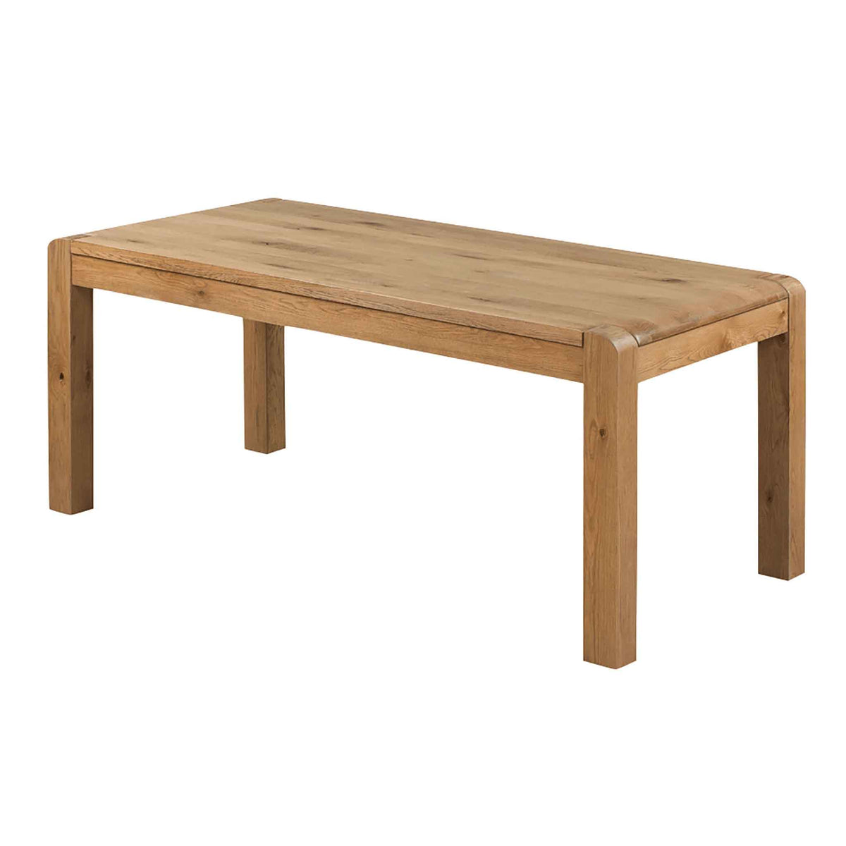 The Capri Oak Chunky Rustic 180cm Large Dining Table from Roseland Furniture