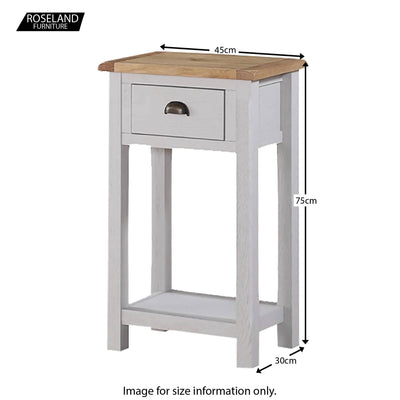 Kilmore Painted Hall Table - Size Guide