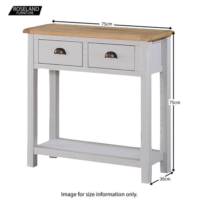 Kilmore Painted Hall Console Table - Size Guide