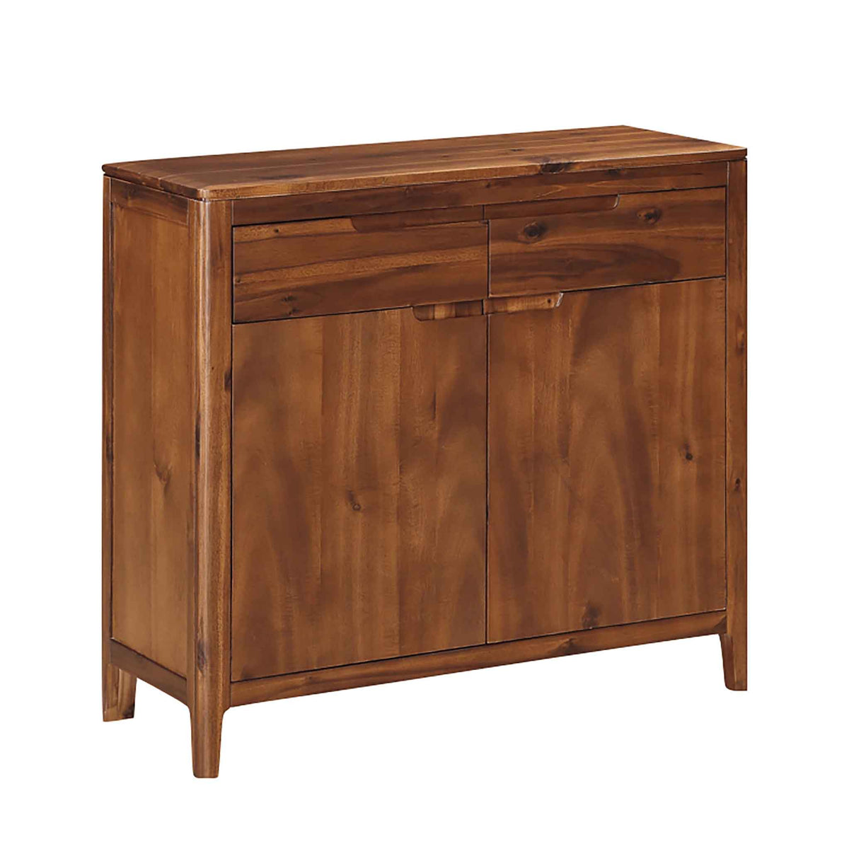 The Dunmore Acacia Small 2 Door Sideboard Cabinet with 2 Drawers from Roseland Furniture