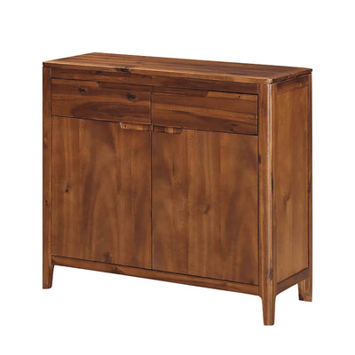 The Dunmore Acacia Dark Wood 2 Door Sideboard Cabinet from Roseland Furniture