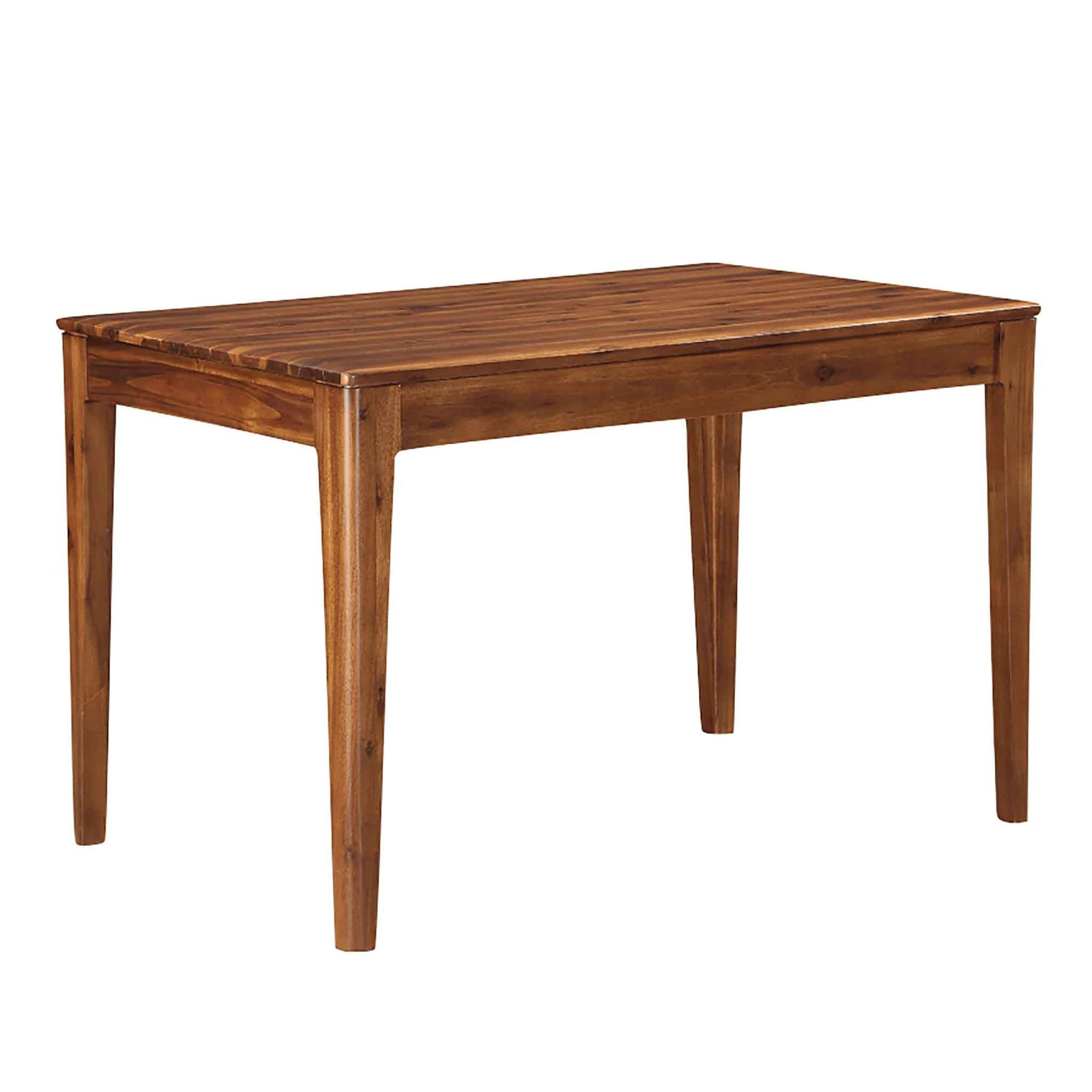 The Dunmore Acacia Dark Wood Dining Table from Roseland Furniture