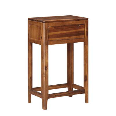 The Dunmore Acaica Dark Wood Small Hall Console Table from Roseland Furniture