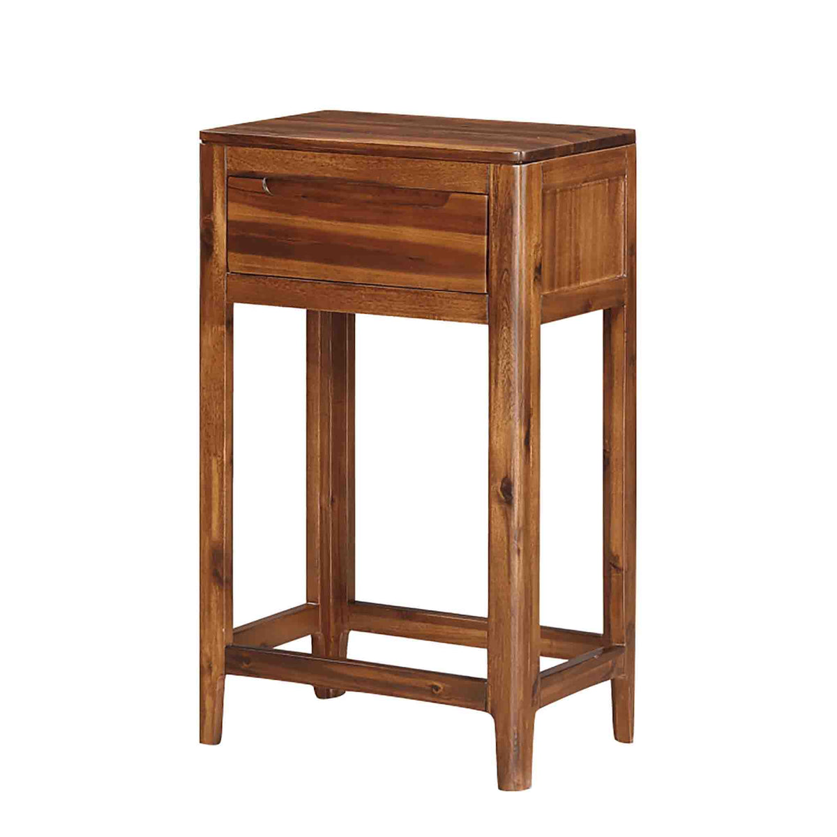 The Dunmore Acaica Dark Wood Hallway Table with Drawer from Roseland Furniture