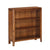 The Dunmore Acacia Small Low Bookcase with 3 Shelves from Roseland Furniture