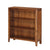 The Dunmore Acacia Small Low 3 Shelf Bookcase from Roseland Furniture