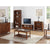 Lifestyle image with The Dunmore Acacia Small Low Bookcase with 3 Shelves from Roseland Furniture