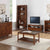Dunmore Acacia Small Low Bookcase - Lifestyle