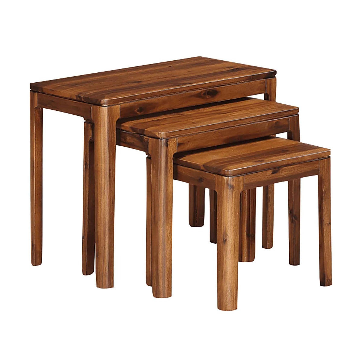 The Dunmore Acacia Dark Wood Nest of Tables from Roseland Furniture