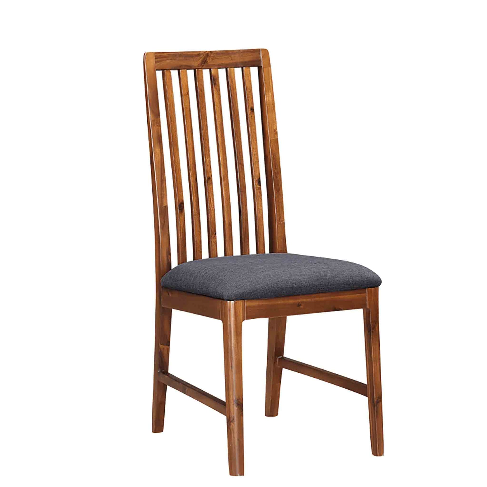 The Dunmore Acacia Dark Wood Dining Chair from Roseland Furniture