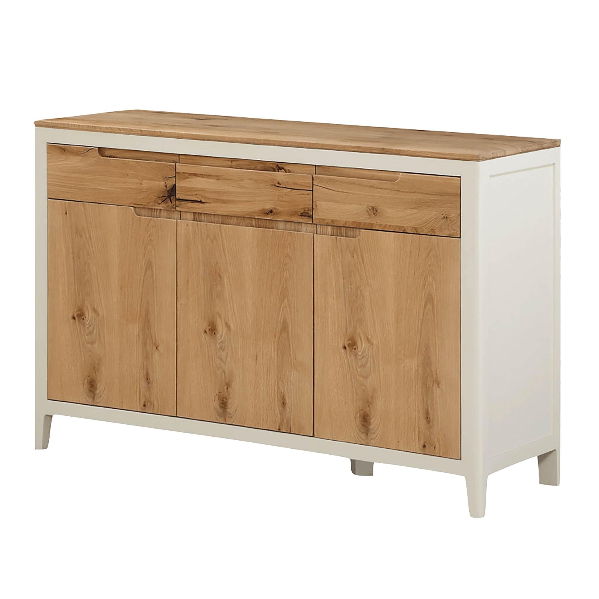 Dunmore Painted Large 3 Door Sideboard Unit by Roseland Furniture