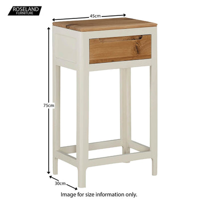 Dunmore Painted Small Console Hall Table - Size Guide