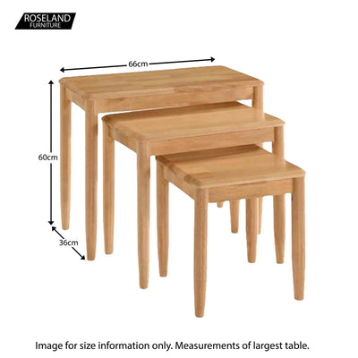 Cologne Nest of Tables - Size Guide
