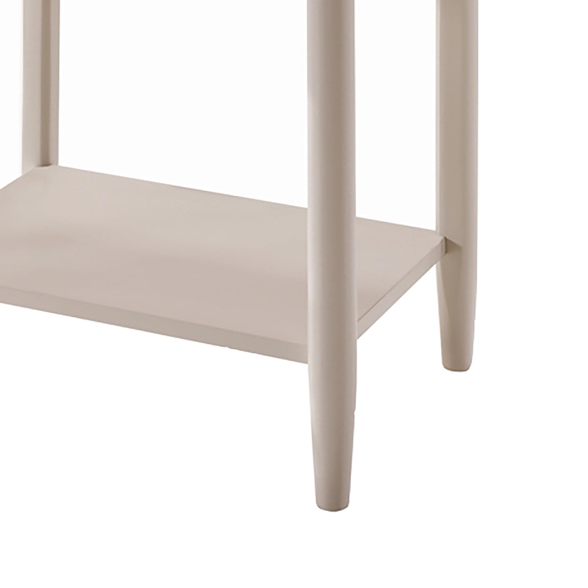 Altona End Table - Close Up of Lower Shelf and Legs