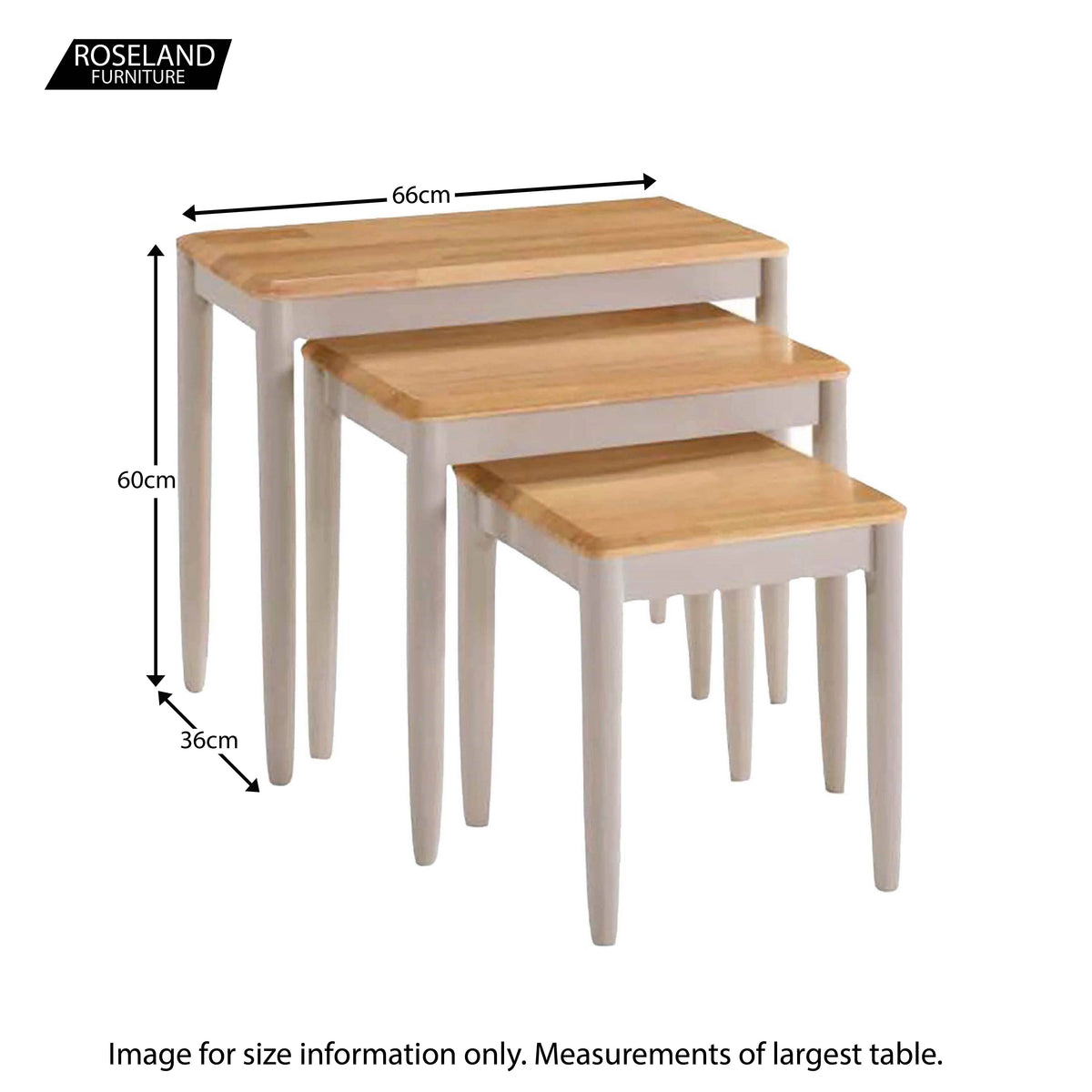 Altona Nesting Tables - Size Guide