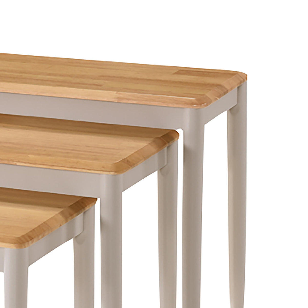 Altona Nest of Tables - Close Up of Oak Tops
