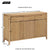 Dunmore Oak Large Sideboard - Size Guide