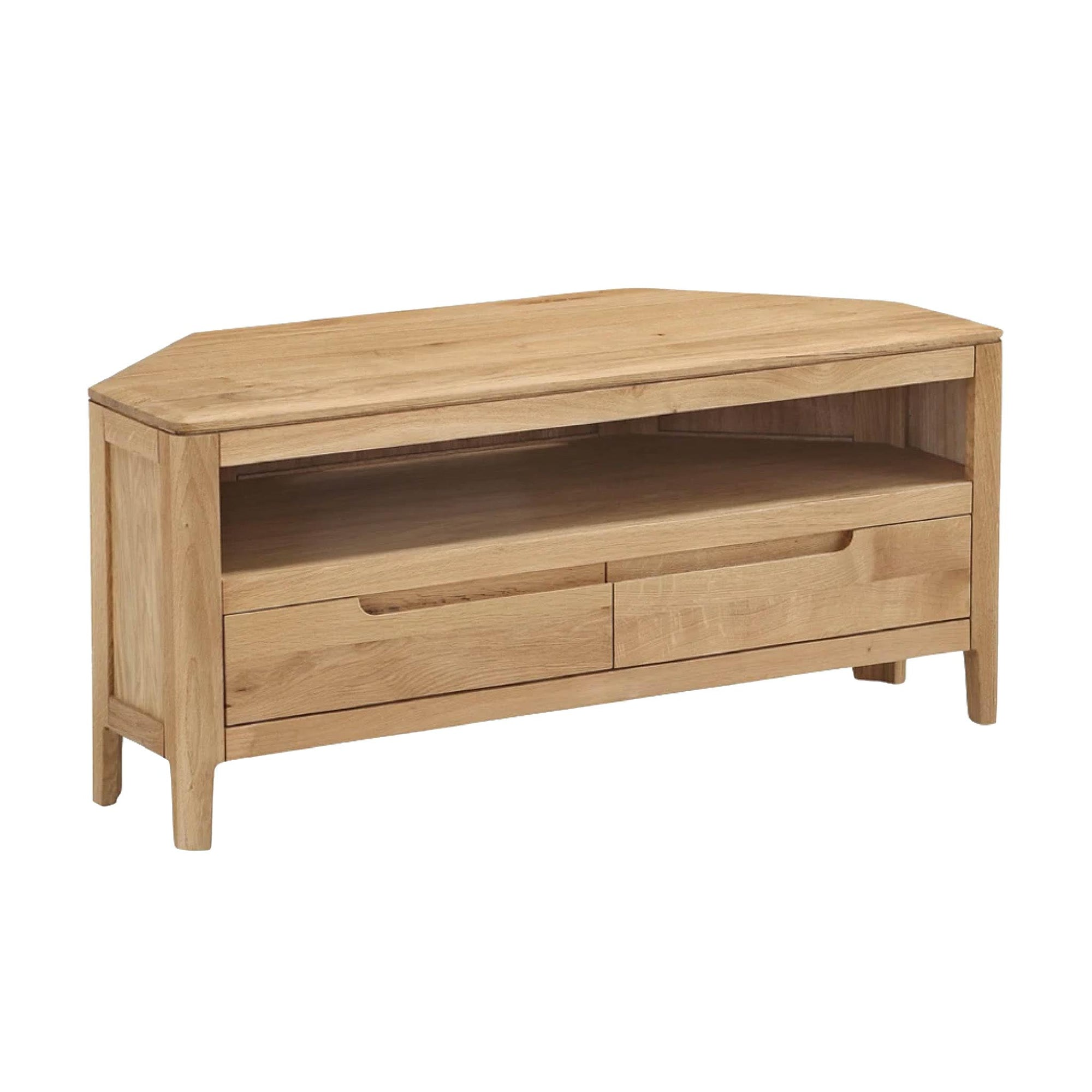 Dunmore Oak Corner TV Stand by Roseland Furniture