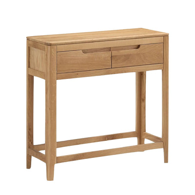 Dunmore Oak Console Hall Table by Roseland Furniture