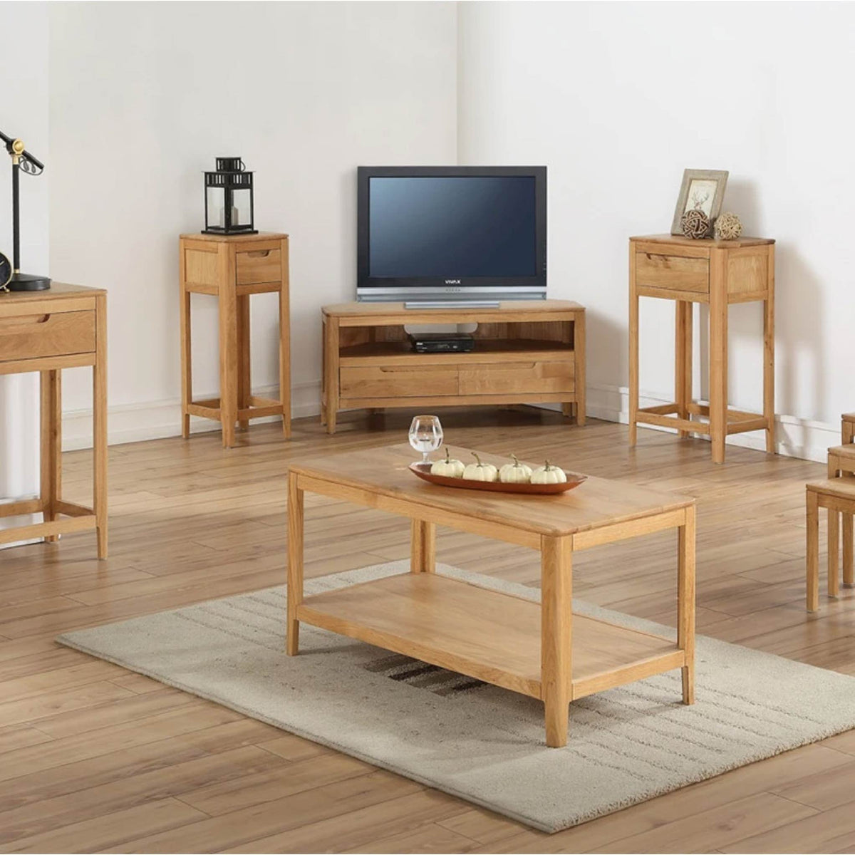 Dunmore Oak Console Hall Table range view