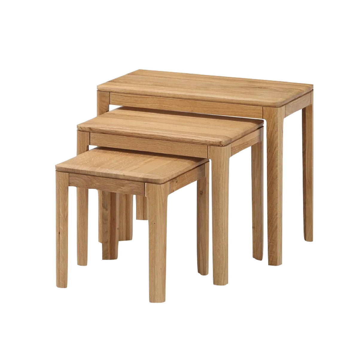 Dunmore Oak Nest of Tables by Roseland Furniture