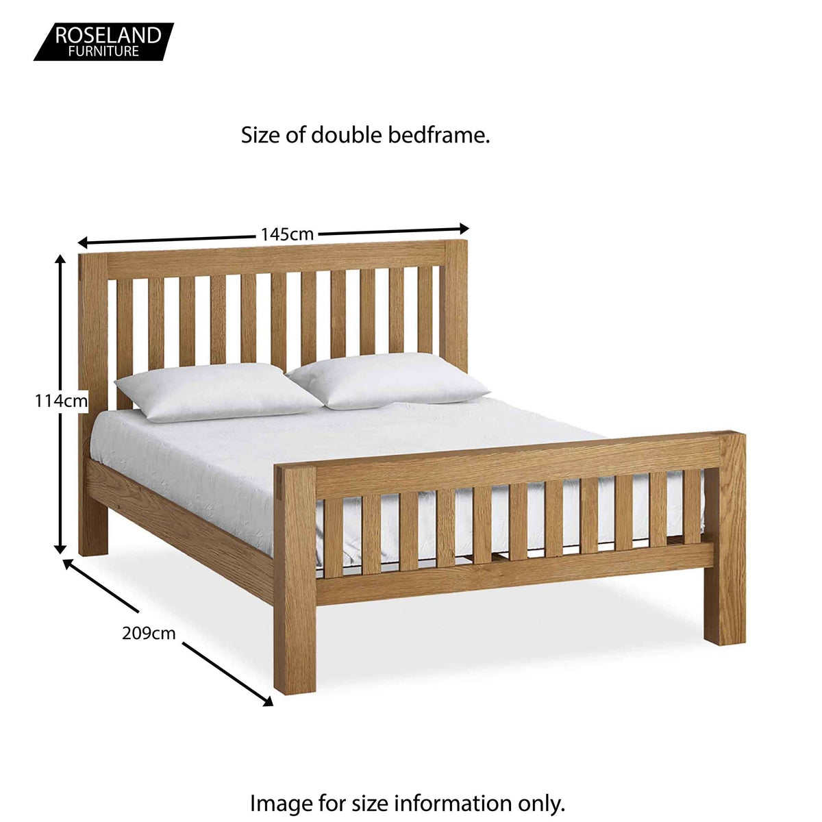 Abbey Double Bed Frame - Size Guide