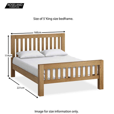 Abbey King Size Bed Frame - Size Guide