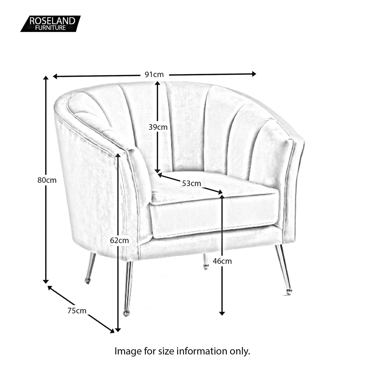 Adele Accent Chair - Size Guide