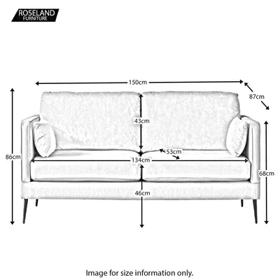Anton 2 Seater Sofa - Size Guide
