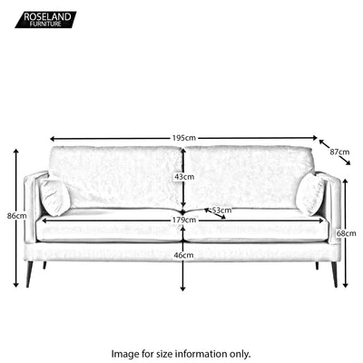 Anton 3 Seater Sofa - Size Guide
