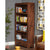Side view of The Salem Walnut Tall Large Wooden Bookcase with 4 Shelves