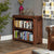 Side view of the The Salem Walnut Small Low Bookcase
