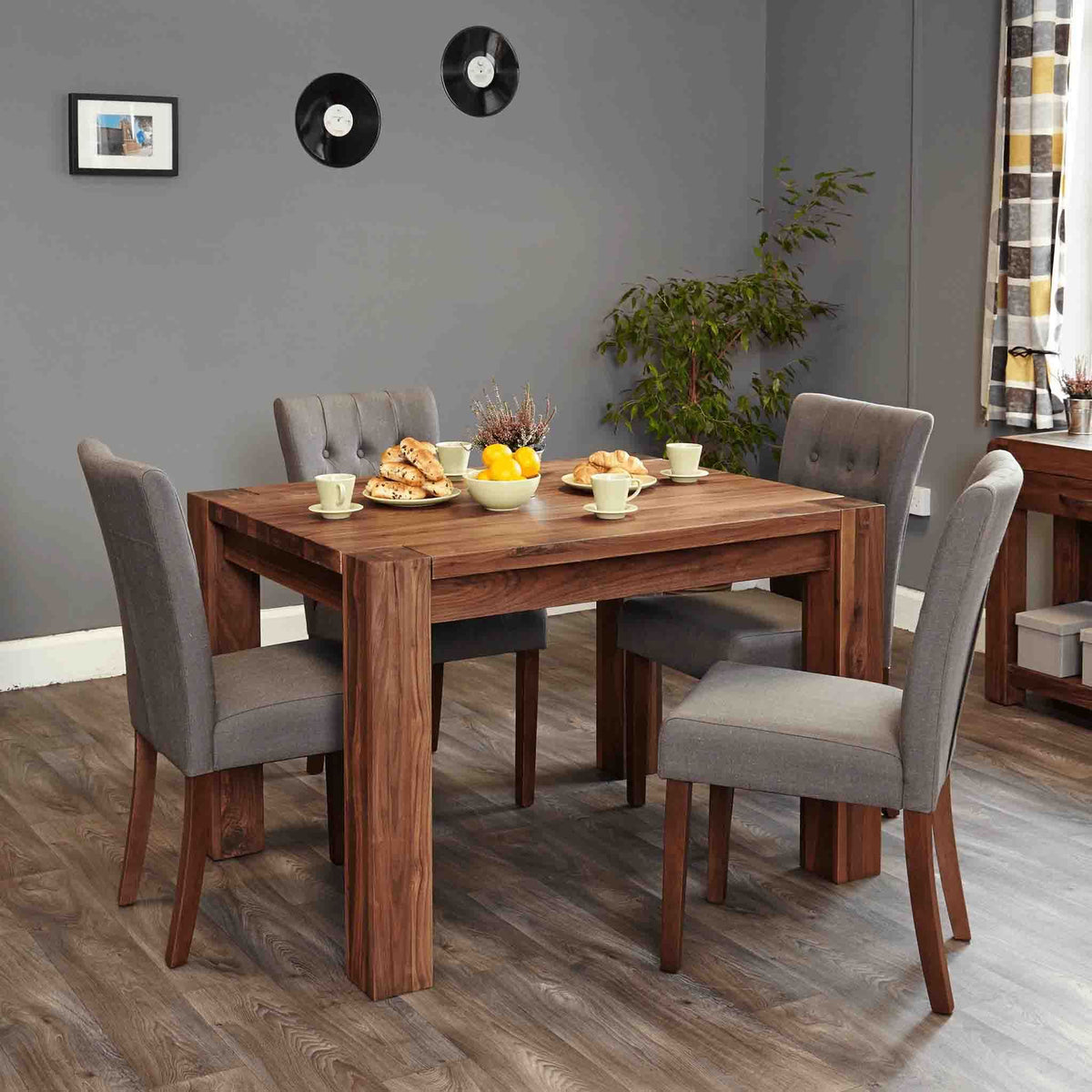 The Salem Walnut Small Solid Hardwood Dining Table