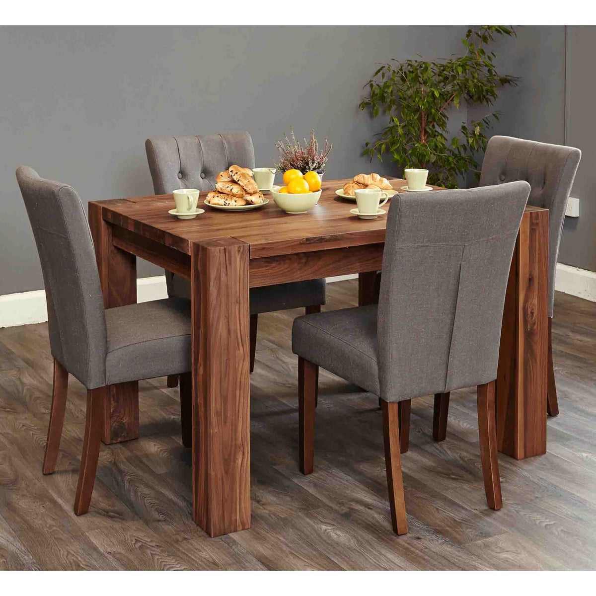The Salem Walnut 4 Seater Dining Table