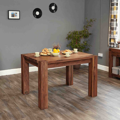 The Salem Walnut Solid Wooden Dining Table for 4 from Roseland Furniture