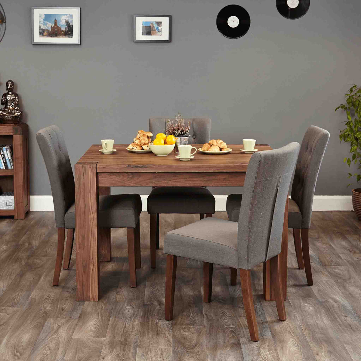 The Salem Walnut 4 Person Wooden Dining Table