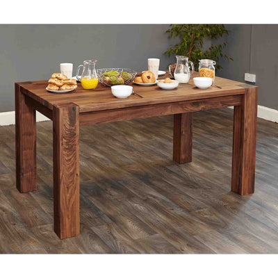 The Salem Walnut Solid Wooden Dining Table for 6 from Roseland Furniture