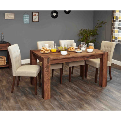 The Salem Walnut 6 Seater Dining Table from Roseland Furniture