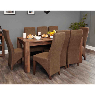 The Salem Walnut Large Family Dining Table for 8 from Roseland Furniture
