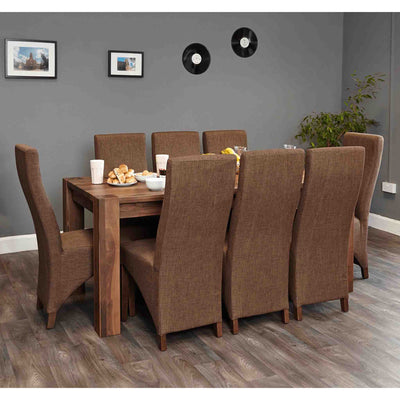 The Salem Walnut Large 8 Seater Dining Table from Roseland Furniture