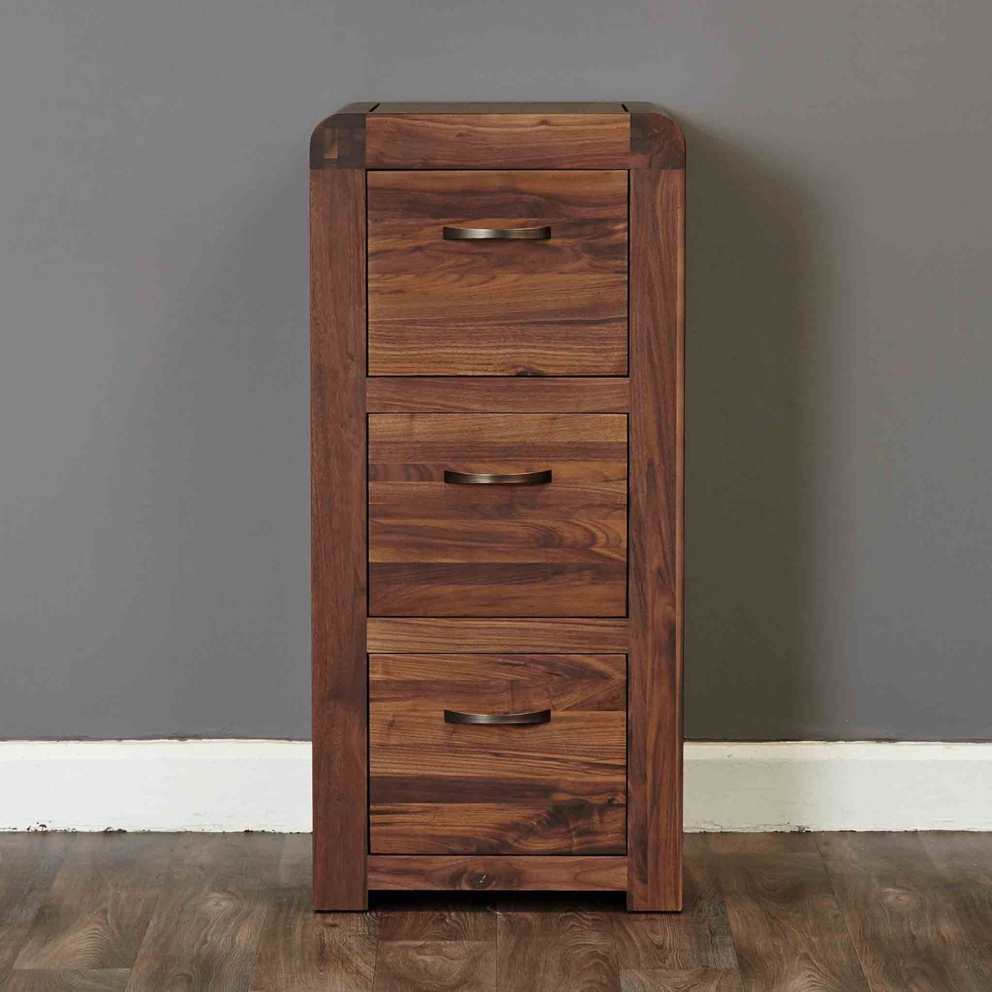 The Salem Walnut Large Wooden Office Filing Cabinet from Roseland Furniture
