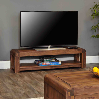 The Salem Walnut Large Wooden TV Unit 130cm from Roseland Furniture