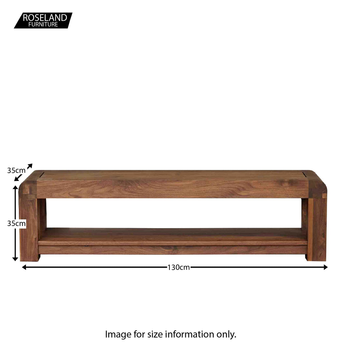 Salem Walnut TV Stand - Size Guide