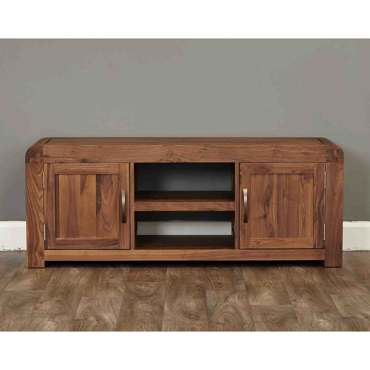 The Salem Walnut Large Wooden Television Stand Storage Cabinet 142cm from Roseland Furniture