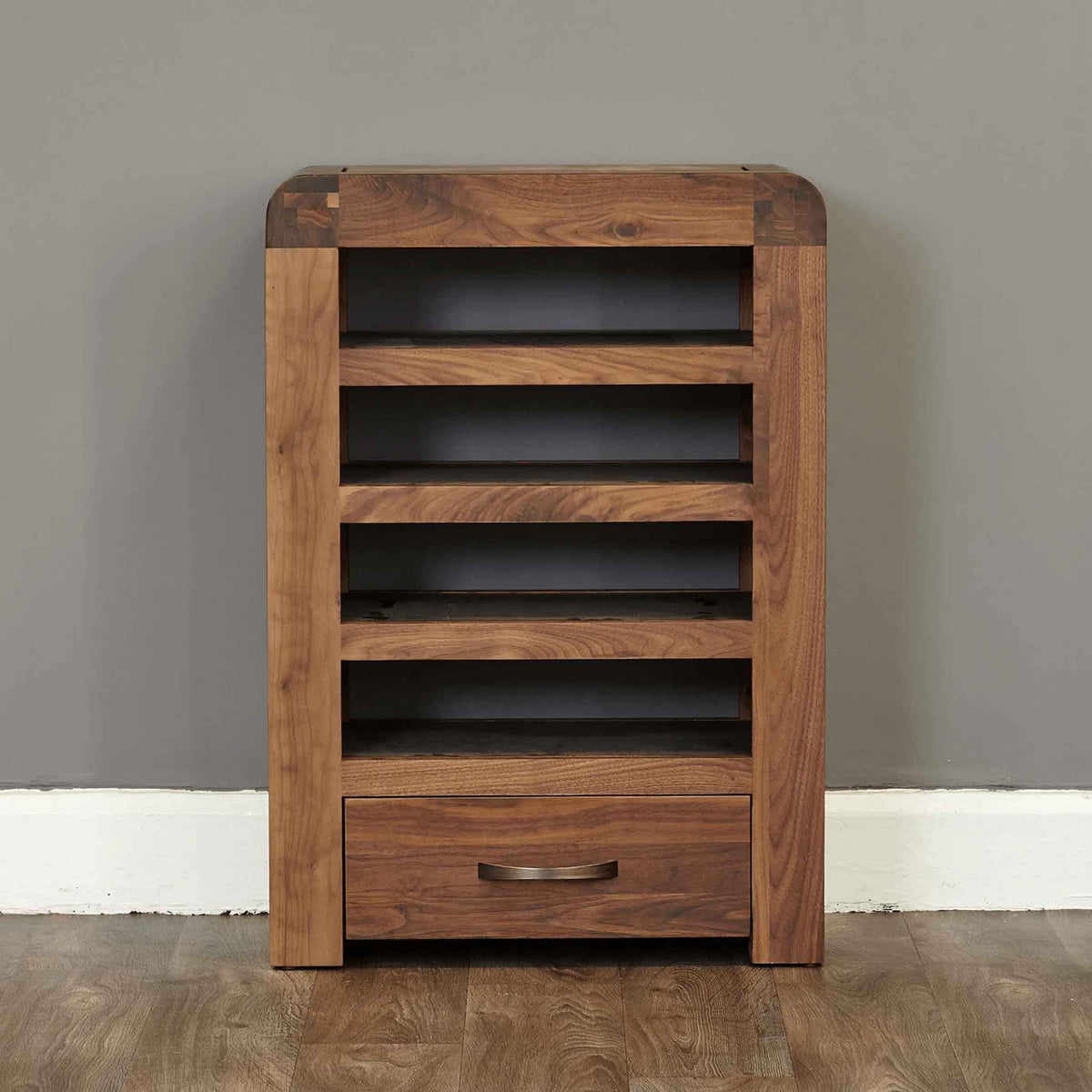 The Salem Walnut Wooden Entertainment Unit with Drawer from Roseland Furniture