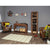 Lifestyle room image with The Salem Walnut Wooden Large Shoe Rack
